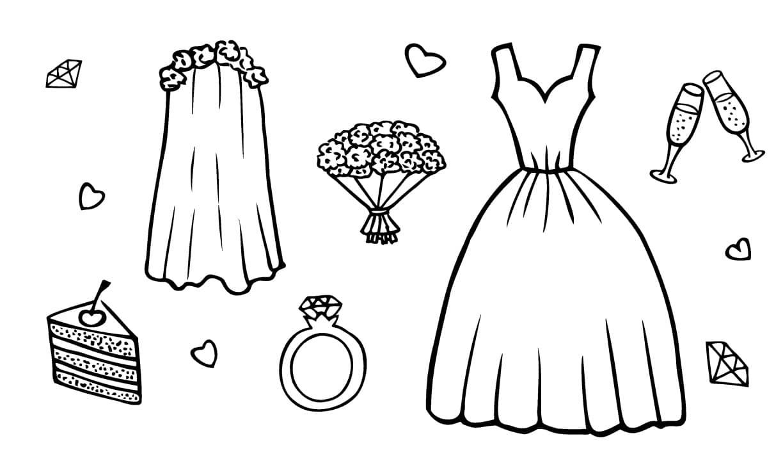 Minimalistische Hochzeit