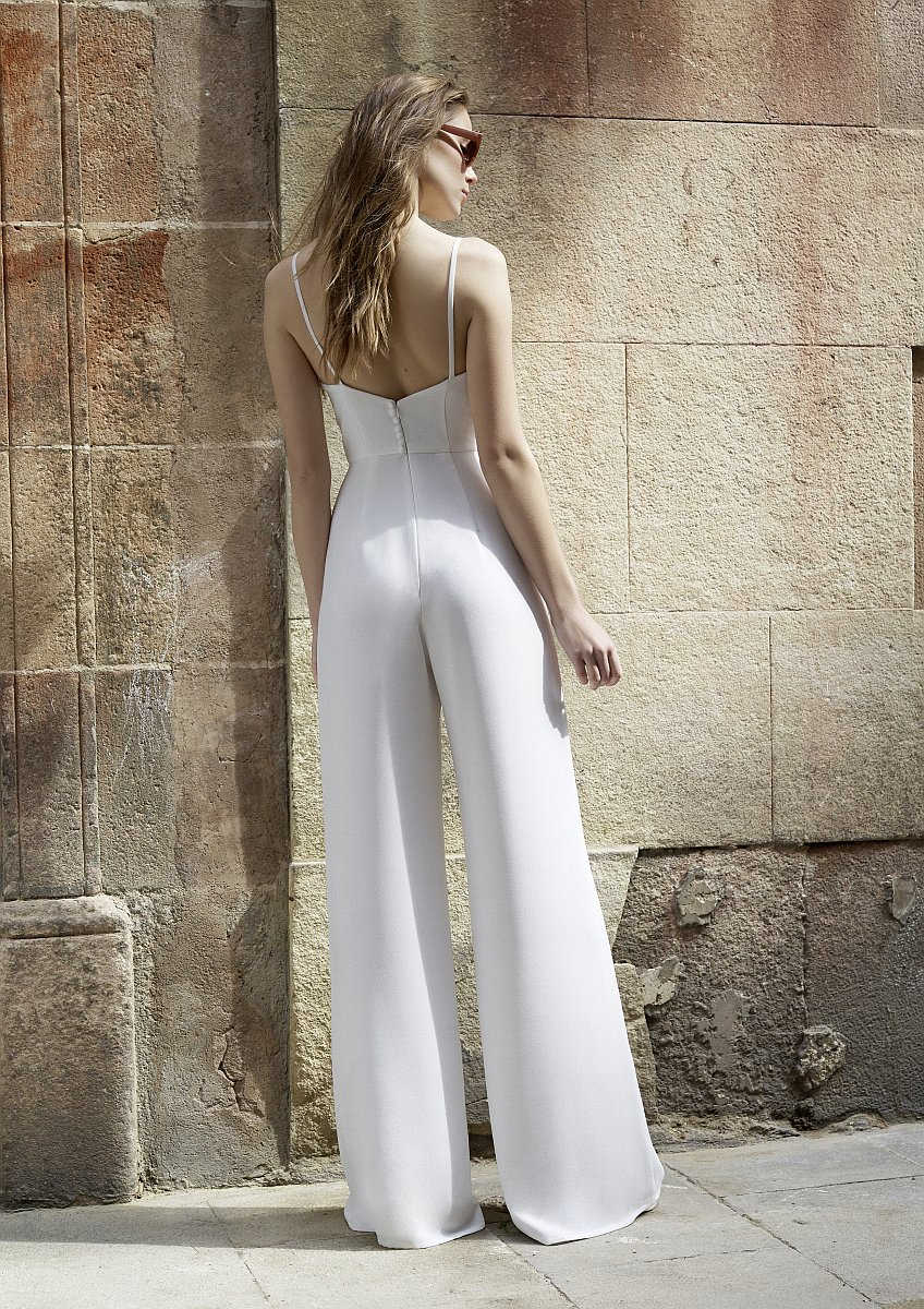 White One Mila Mix and Match 2 Teiler Jumpsuit