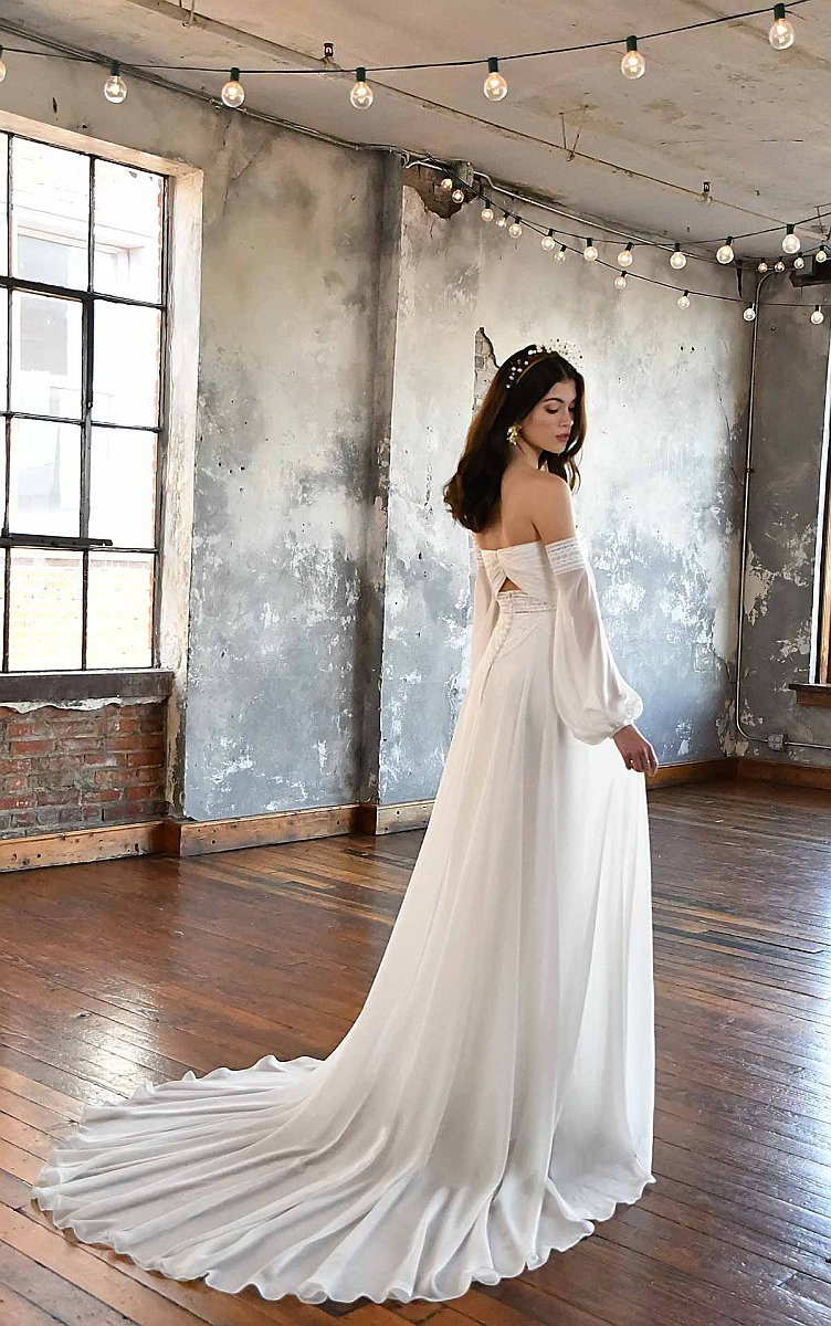 All Who Wander Remi Boho Vintage Brautkleid Hochzeitskleid